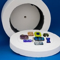 4 bags fusing glass and a large microwave kiln 2014 hot sale fusing glass with large microwave kiln