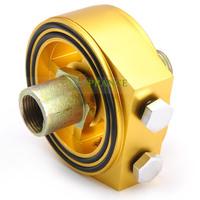[ Cheap] Aluminum Racing Car Oil Filter Cooler Adapter For Oil Temp & Pressure Gauge Free Shipping