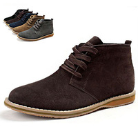 Free shipping men's sneakers 2014 British design suede fashion brand high tops men martin ankle boots autumn boots MS9175