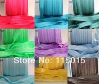 3pcs/lot Free Shipping 55 Colors FOE Fold Over Elastic 50 Yards 1.5cm Foldover elastic for headband Hair Accessories