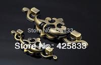 Free Shipping 2pcs 96mm Antique Brass Zinc Alloy Drawer Pull Kitchen Handles Luxury Dresser Knobs  Bronze Drawer Pulls