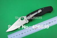 Spyderco C81GP2 Paratrooper Folding Blade Knife S30V Blade G10 Handles,Pocket Knife Hunting Knives Outdoor Camping Knife