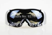 New Winter Sports dark grey lens Black frame Adult Snowmobile Motorcycle Snowboard Skate Ski goggles Windproof Glasses eyewear