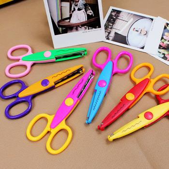 Горячая распродажа дети ножницы для DIY фотоальбом ручной работы, 6 модели Laciness ножницы фотоальбом карты