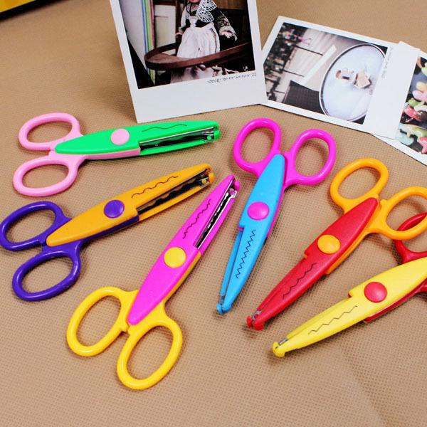 Hot Sell Kids Scissors for DIY Photo Album Handmade, 6 Patterns Laciness Scissors for Photo Album Card Decorative, DIY Scissors(China (Mainland))