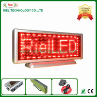 Russian LED Desk Board Moving display Signs For Advertising 16*48 Pixels Red color Rechargeable