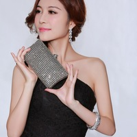 Full Crystal Evening Clutch Bag 2013 New Design with 120 cm Long Chain Wedding Party Bag Wholesale Boutique DC1989 64966-25