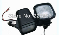 12set/lot 55W 6000K HID Work Light square flood spot light for Truck High Quality FreeShipping