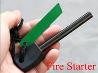 5pcs/lot Survival Magnesium Flint Stone Fire Starter Lighter Fire Maker Flint Rod Stell Outdoor Camping Kits