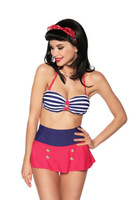 new 2013 fashion High Waist Vintage women Pin Up Retro Pushup Top Skirt beach Bikini Swimsuit Swimwear biquini roupas Set