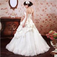 crystal Urged 2015 sweet princess bride wedding dress lace wedding dress