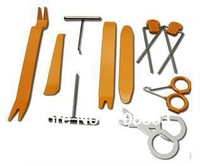 12pcs Car Radio Door Clip Panel Trim Dash car repair tools car audio Pry Tool Kit tools set