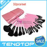 32Pcs Print Brand Logo Makeup Brushes Professional Cosmetic Make Up Set Free Shipping
