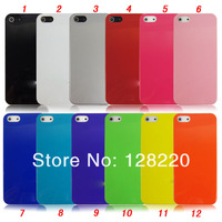 DHL Free Shipping High Quality Colorful Gilding Brand Logo Plastic  Case for Iphone 5 5s