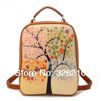 Free Shipping fashion vertical square soft terylene backpacks school bag casual bag