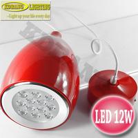 2 year warranty led 12w modern pendant lights AC220V epistar chip acrylic mask white or warm white colour