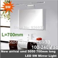 """70cm 28"""" stainless steel 9W LED white light mirror light bathroom washbasin wall lamp AC 85V~265V bj09"""