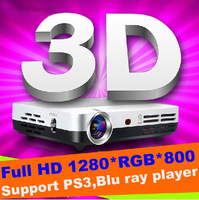 Top quality ATCO 1080P Pocket Mini DLP 3Led Full HD 1280*800 Shutter 3D Home Cinema Projector Beamer Convert 2D to 3D Proyector