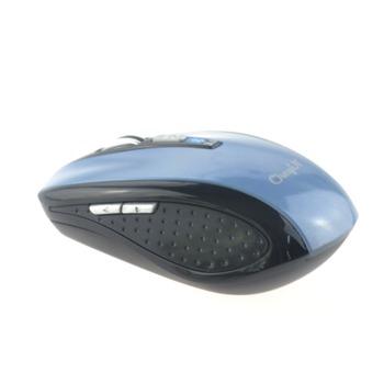 Mini 6D Rechargeable 1600DPI Bluetooth Optical Mouse Streamlined design-Grey Blue 0.29-BM01C