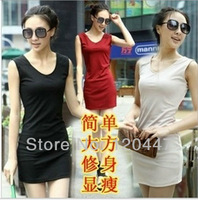 NK new spring summer 2014 fasion style knitted vest casual sex hip short  elegance DRESS plus size  whole sale