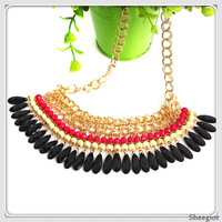 50% Off! Bohemia Layer Beads Necklace Europe And United States Vintage chain necklace Women Chokers Necklaces Pendants