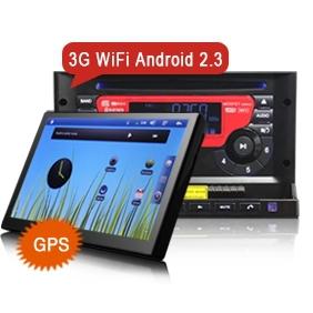 7-zoll-androiden autoradio 2 din hd-dvd-spieler mit gps-navigator wifi 3g Stereo-Audio System 1 GHz-CPU frei 4gb karte karte ks777