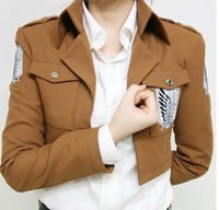 Anime Attack on Titan Scouting Legion Coat Jacket  Uniform Suit Clothes Cosplay Costume With Badge High Quality