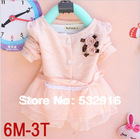2013 Fashion knit Baby Dress girls' dresses Kids Autumn Winter Clothes Long Sleeve Flower lacing Kids Autumn Winter Clothes(China (Mainland))