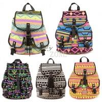 Wholesale 3pcs/lot 2013 New Lady Korean Stylish Vintage National Backpack Floral Canvas Bag School Bag knapsack 5Colors 18368