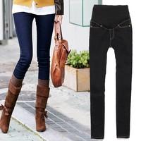 2014 New Fashion Jeans for Pregnant Ladies Women Skinny Maternity Jeans Pants Denim Trousers Blue/ Black Size 19812 Z