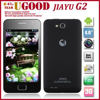 "JIAYU G2 Android 4.0 OS 3G MTK6575 4.0"" Capacitive IPS Screen 8MP Camera 3G Cheap Android phone Freeshipping"