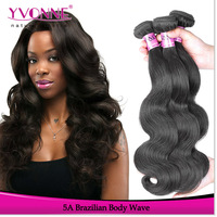 Grade 5A Unprocessed Brazilian Virgin Hair Body Wave,3Pcs/Lot Remy Human Hair Extension,12~28Inches Aliexpress Yvonne Hair