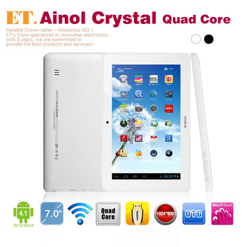 "Ainol NOVO 7 Crystal Quad core 7"" android tablet pc 1.5Ghz 1GB RAM 8GB WIFI Webcam Leather case free gifts"
