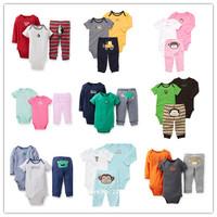 Retail,Carter's Baby Boys & Girls Bodysuits3pcs Sets,Baby Summer jumpsuit Bodysuit Sets ,Baby Clothing Set,Freeshipping