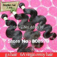 Brazilian Virgin Human hair weave Body wave best selling natural color wavy hair extension 3pcs lot mixed lengths mocha hair