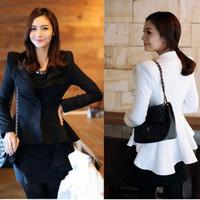 2014 Spring and Autumn Short Devotail Jacket Women's Slim Blazer One Button Elegant Blazer Tuxedo Free Shipping nz111