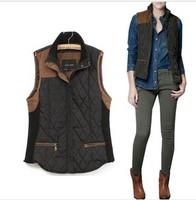 2014new fashion women autumn vest ,slim vintage patchwork knitted vest vest outerwear 6colors S-L free shipping