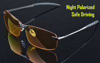 2014 sunglasses drive at night driver luminous glare polarized for vision glasses with a special driving goggles 3043shield men