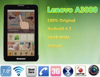 "Original lenovo a3000 Quad Core Phone Call tablet pc 7 ""IPS 1024x600 MTK8389 1.2GHz 1GB RAM 16GB ROM 5.0MP Camera 3g WCDMA"