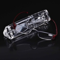 (MGL-1001) 2 pieces lot Men clear looking glass Gift presbyopic glasses with case