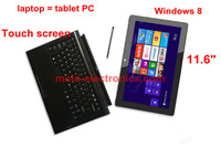 2013 ultrabook laptop 11.6inch touch screen notebook computer intel Celeron 1037U dual core Windows 8 tablet PC 64GB SSD