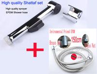 Chrome Plated  Toilet hand held Bidet Spray shower Set including ABS shattaf Spray +1.5m shower hose free shipping