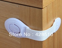 Newest Baby Safety Refrigerator Cupboard and Nightstool Cabinet Locks & Straps 5pcs lot Free Shipping