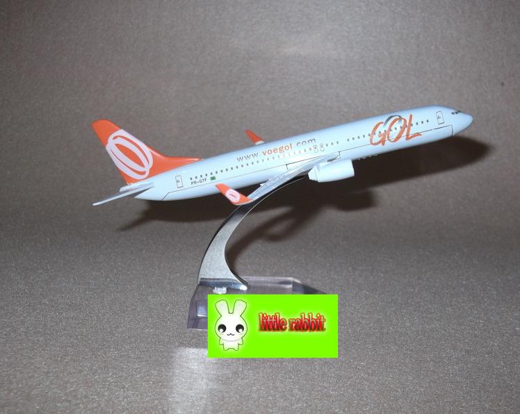 Brazil B737-800 GOL large metal aircraft model kit,16cm,new airplane model,Airlines air plane aeroplane model(China (Mainland))