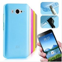 7 Colors Ultra-thin Fashion Xiaomi Mi2s Case For Xiaomi m2s Case Xiaomi mi2 m2 with dust plugs TPU Silicone Case Cover+Free film