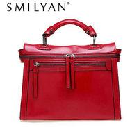 Free shipping! Smilyan new 2014 fashion vintage genuine leather motorcycle bag women's handbag shoulder bag women messenger bag