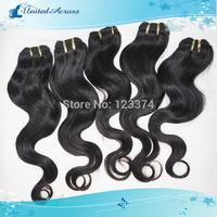 "Color #1b Natural Black Cheap Brazilian Remy Hair Weave Body Wave 6 pcs/lot 12""-26"" Human Hair Extension"