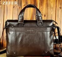 2015 Genuine Leather Handbags Men's Messenger Bag Leisure Business Computer Bag Drop Shipping