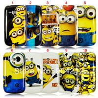 Hot Selling! Cute Yellow Minion case for Samsung Galaxy SIII S3 I9300 S3 mini i8190,Despicable Me Back Cover+Free Shipping