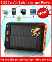 Real 11200MAh Universal Solar Portable Charger External Battery Pack For moble phone laptop notebook mp3 mp4 ipad ipod PCP etc.